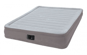 Матрас надувной со встроенным насосом 220 В COMFORT-PLUSH INTEX 152 х 203 х 33 см (67770)