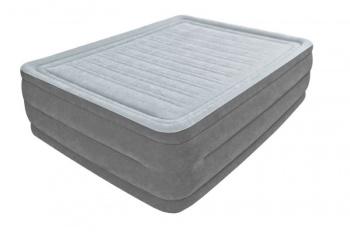 Матрас надувной со встроенным насосом 220 В COMFORT-PLUSH INTEX 152 х 203 х 56 см (64418)