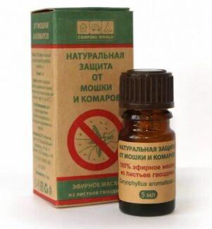 Натуральная защита от мошки и комаров BOTANIKA (масло гвоздики)
