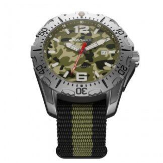 Часы Молния ХАМЕЛЕОН стальной корпус, зеленый циферблат