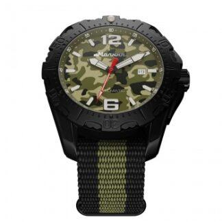 Часы Молния ХАМЕЛЕОН черный корпус, зеленый циферблат