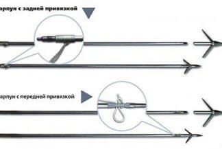 Гарпун ТАЙМЕНЬ 400 D8 (цельный, задняя привязка)