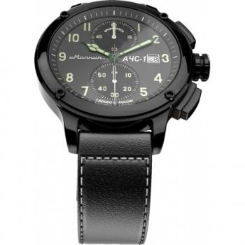 Часы Молния АЧС-1 2.0 хронограф, черный корпус