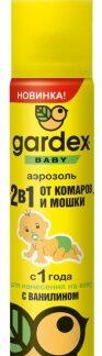 Аэрозоль от комаров и мошки детский с ванилином GARDEX BABY 80 мл