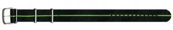 Ремешок Traser № 72 текстильный черно-зеленый
