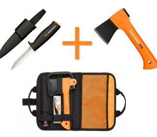 Набор туристический FISKARS: топор X5 + нож K40 + воблер