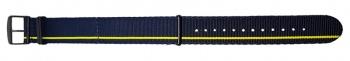 Ремешок Traser № 79 текстильный 24 мм сине-желтый