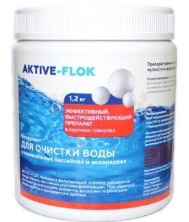Флокулянт для очистки воды AKTIVE-FLOK 1,2 кг