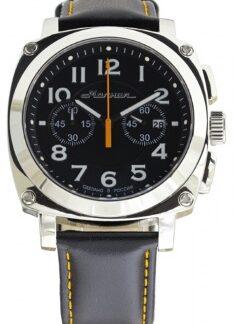 Часы Молния EVOLUTION стальной корпус, черный ремень