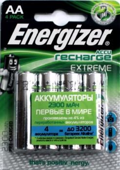 Аккумулятор Energizer RECHARGE EXTREME AA HR06 уп. 4 шт