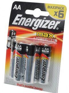 Батарейка Energizer MAX AA LR6 уп. 6 шт