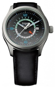 Часы Traser H3 AURORA GMT silver кожа