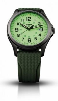 Часы Traser H3 OFFICER PRO GUNMETAL lime каучук