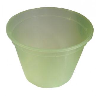 Горшок д/рассады  0,86л салатовый-прозрачный 35/910