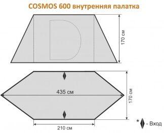 ВНУТРЕННЯЯ ПАЛАТКА ДЛЯ COSMOS 600 MAVERICK