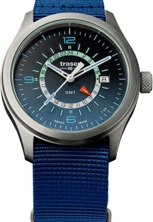 Часы Traser H3 AURORA GMT blue текстиль