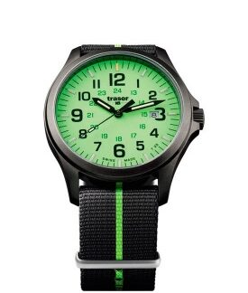 Часы Traser H3 OFFICER PRO GUNMETAL lime текстиль