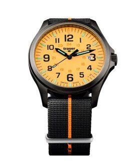 Часы Traser H3 OFFICER PRO GUNMETAL orange текстиль