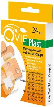 Лейкопластырь медицинский O'VIE Plast ассорти уп. 24 шт