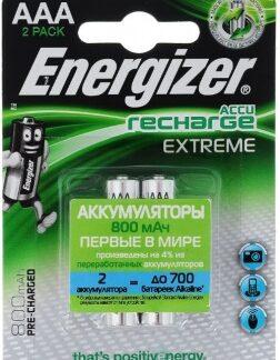 Аккумулятор Energizer RECHARGE EXTREME AAA HR03 уп. 2 шт