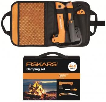 Набор туристический FISKARS: топор X5 + нож K40 + пила