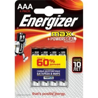 Батарейка Energizer MAX AAA LR03 уп. 4 шт