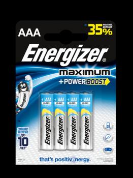 Батарейка Energizer MAXIMUM AAA LR03 уп. 4 шт