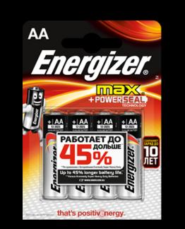 Батарейка Energizer MAX AA LR6 уп. 4 шт