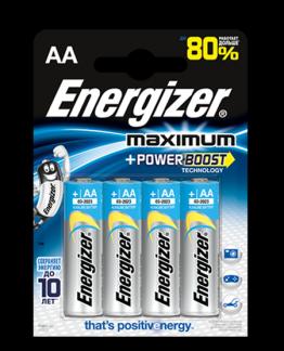 Батарейка Energizer MAXIMUM AA LR6 уп. 4 шт