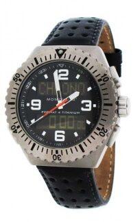Часы MOMENTUM FORMAT 4 черная перфорированная кожа