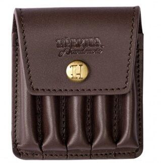 Патронташ для 5 патронов Riflecart. Cover in Leather HARKILA